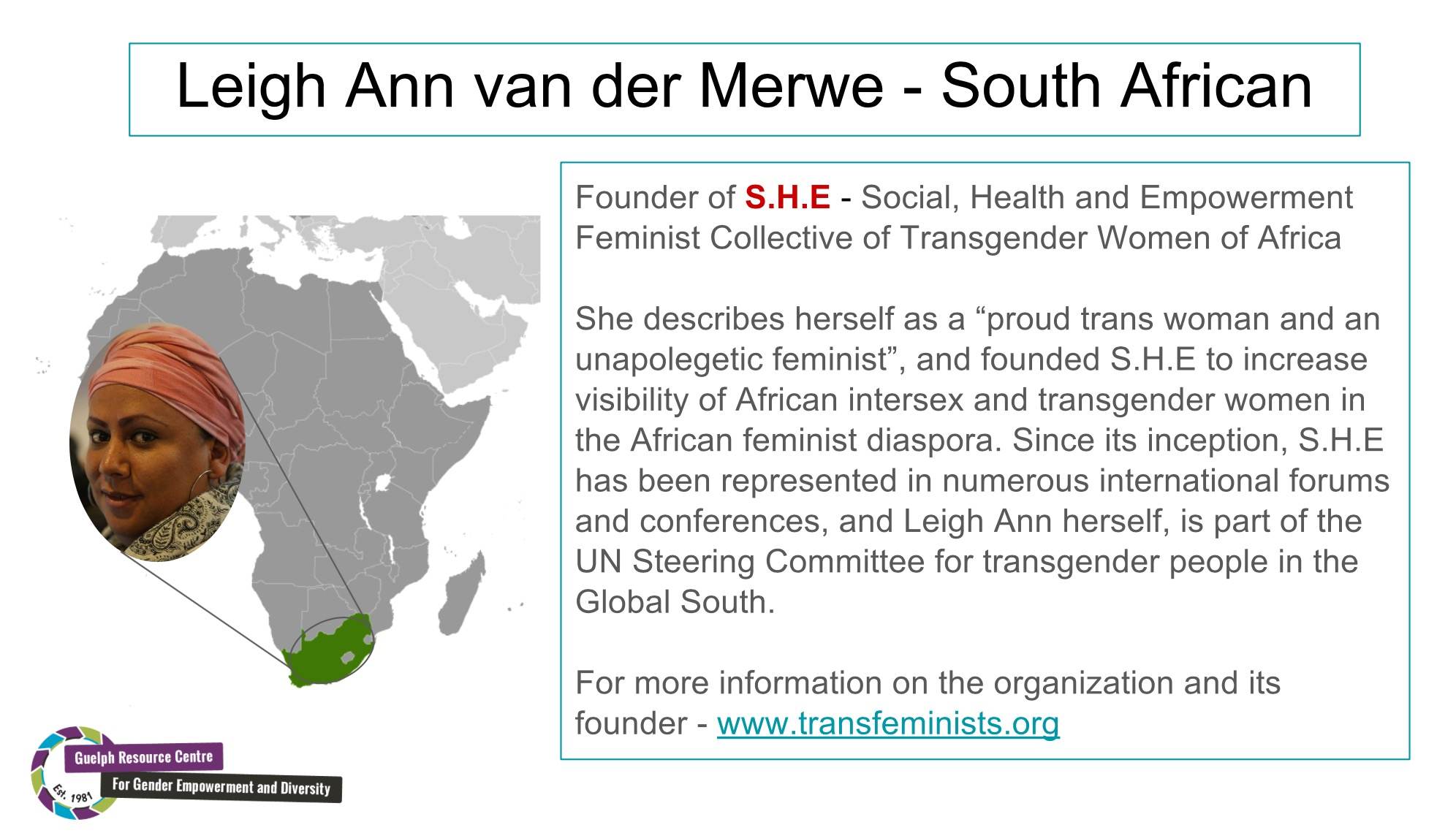 South African Trans Activist